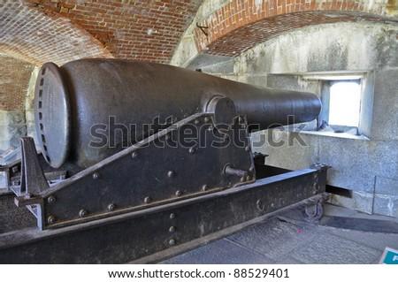 Rodman Gun, Fort Knox, Penobscot River, Maine, USA