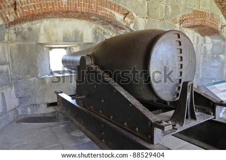 Rodman Gun, Fort Knox, Penobscot River, Maine, USA #88529404