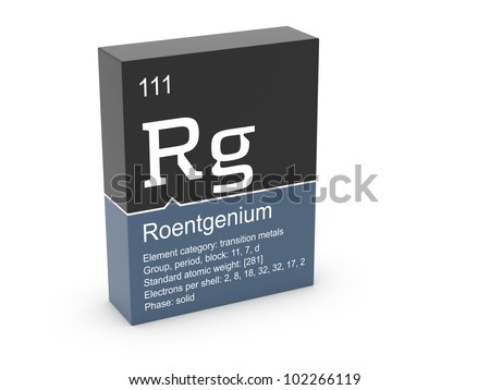 Roentgenium from Mendeleev's periodic table