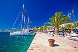 Rogoznica sailing destination in Dalmatia waterfront view, Croatia