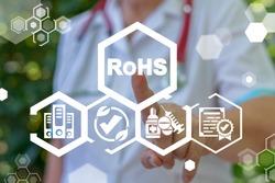RoHS Compliant Medical or Pharmaceutical Concept. Restriction of Hazardous Substances Directive.