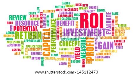 ROI or Return on Investment of Art Concept