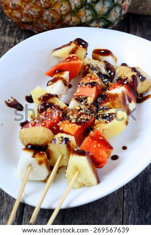 rojak buah traditional asian fruits mixed salad with