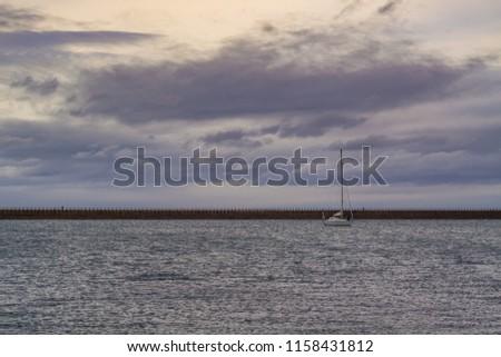Roker pier in Sunderland. North east coast of England. #1158431812