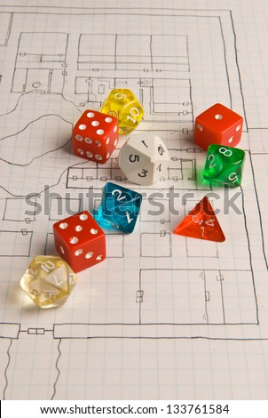 Role Play Dice on Game Map