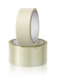 Roll adhesive tape, on isolated white background