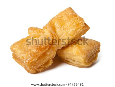 Roll baklava - stock photo