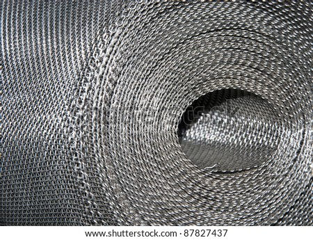 Roll of a metal grid