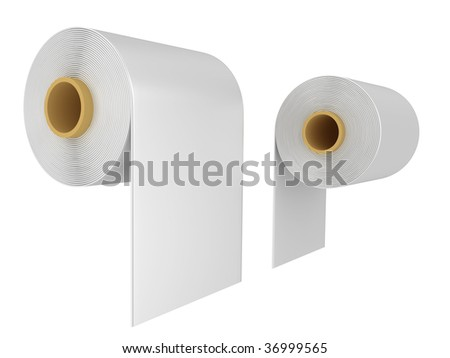Roll of a toilet paper isolated on a white background