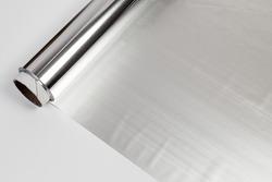 roll of aluminum gray foil paper