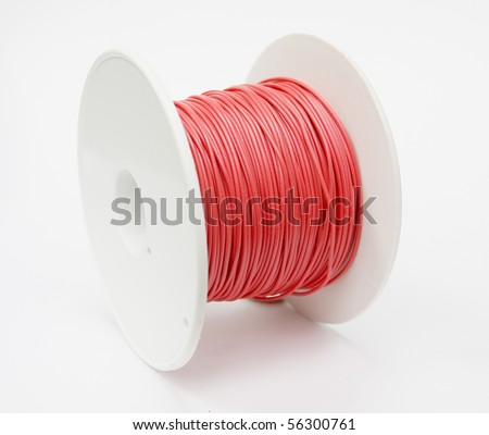 roll of electical cable - stock photo