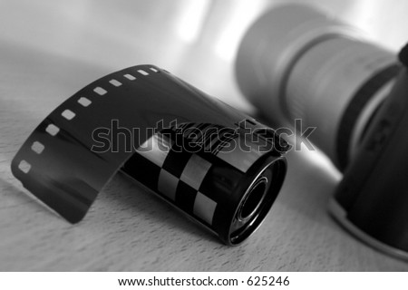 roll of film with slr camera