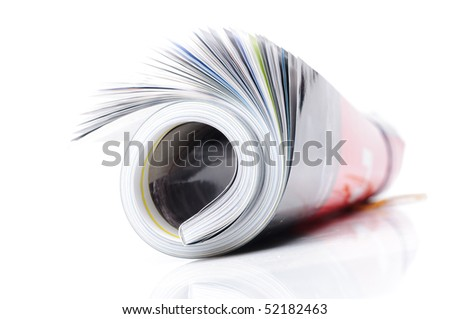 roll of magazine - stock photo