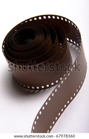 roll of 35mm film - stock photo