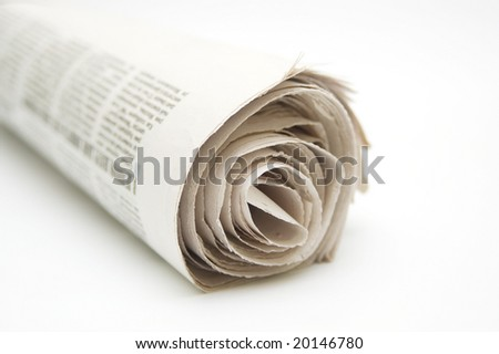 Roll of newspaper