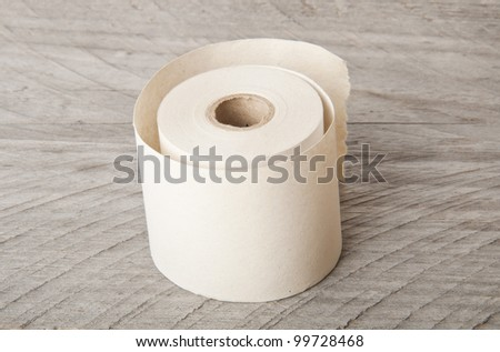roll of paper - stock photo