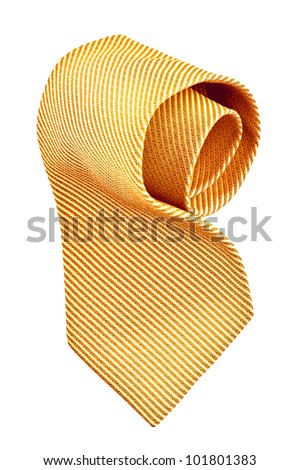 roll of red tie, pinstriped, with clipping paths