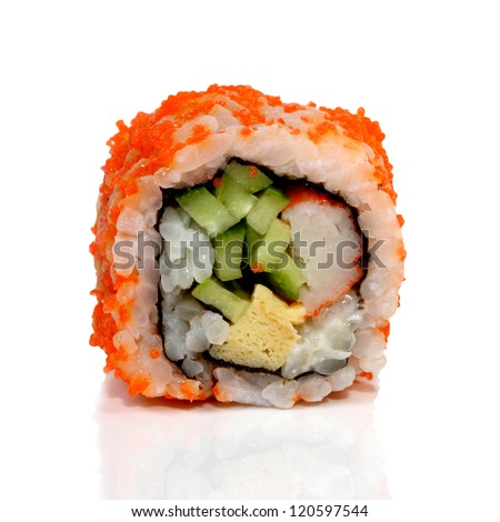 Roll Sushi isolated on white background