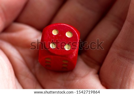 Roll the dice - four diced in hand #1542719864