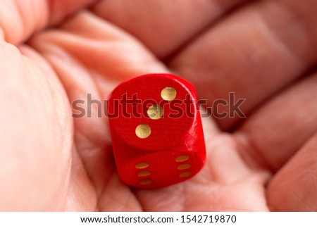 Roll the dice - three diced in hand #1542719870