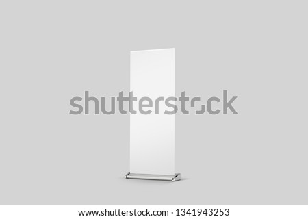 Roll up Banner Mock up with grey color background. #1341943253