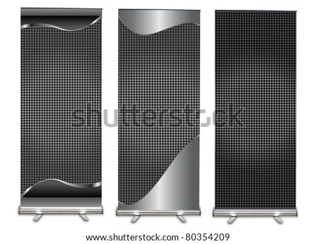 roll-up display with stand banner background template design