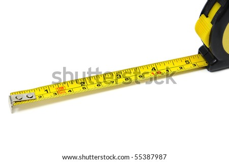 roll-up tape measure isolated on a white background