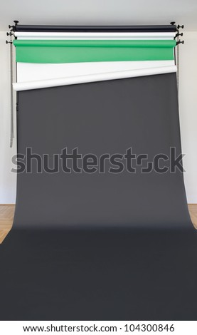 Rolled Black Photo Studio Paper Backdrop