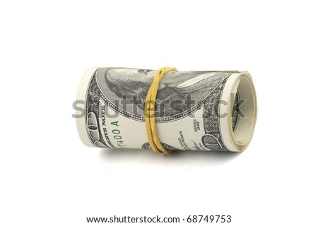 rolled dollars