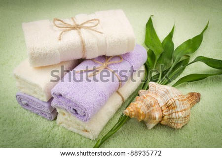 rolled soft towels from bamboo