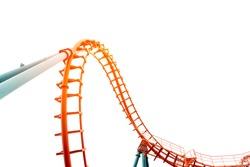 Roller coaster on white background