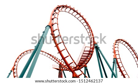 Roller coaster on white background Foto stock ©