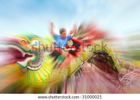 Roller coaster ride at the carnival