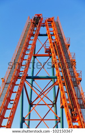Roller Coaster Track - stock photo