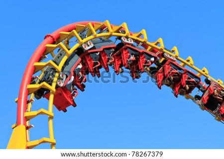 Rollercoaster Ride (against blue sky) Stock photo ©