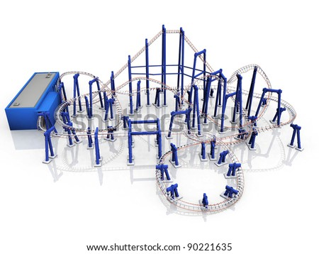 rollercoaster  ride on a white background