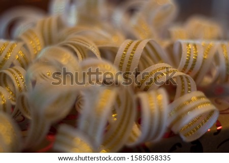 Rolling Gold and White Ribbon