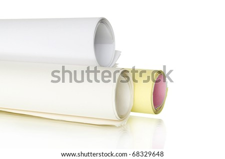 rolls of color papers plans