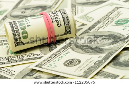 Rolls of dollars.Highly detailed picture of American money