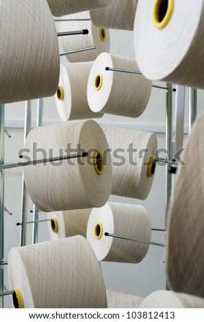 Rolls of industrial cotton fabric for clothing cloth textile manufacture on machine