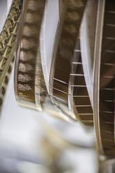 Rolls of 16mm film strip. Cover. Web banner. Element for design.