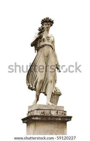 Roma, piazza del Popolo, la statua dell'Estate