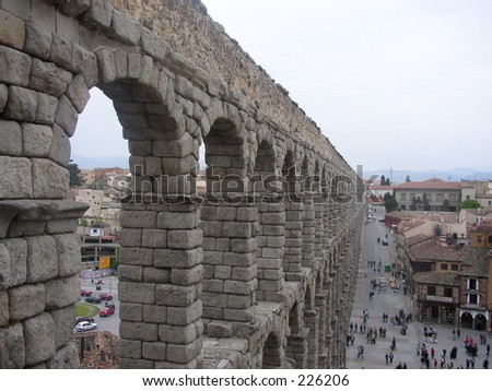 Roman Acqueduct in Segovia Spain