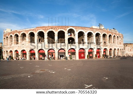 roman amphi theater,  Arena di Verona, Italy - stock photo