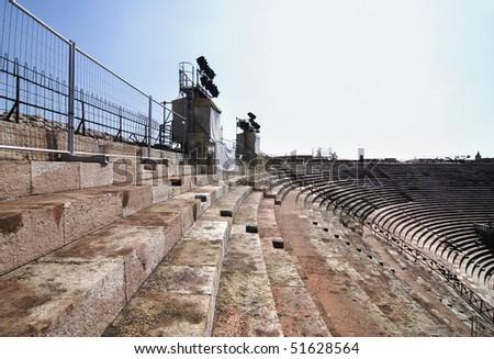 Roman amphiteatre called Arena di Verona, actually used as opera theatre, Italy
