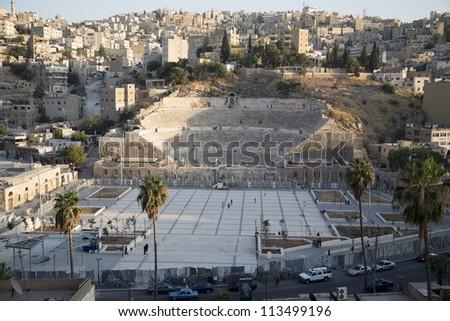 Roman Amphitheater in Amman,Jordan