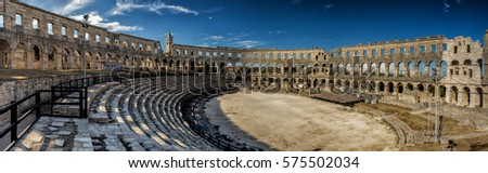Roman amphitheatre (Arena) in Pula, Croatia