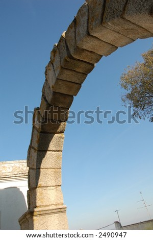 roman arc in City of Beja, Portugal
