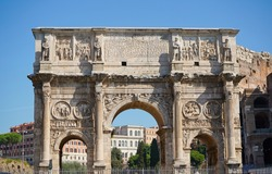 Roman Arch at the Roman Colosseum