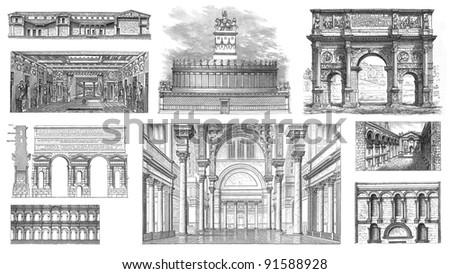 roman architecture   vintage...
